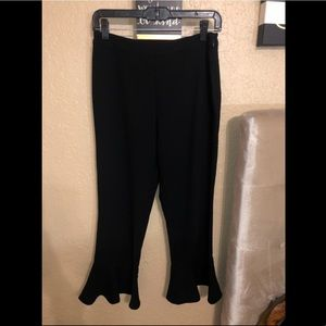 Black cropped bell pants